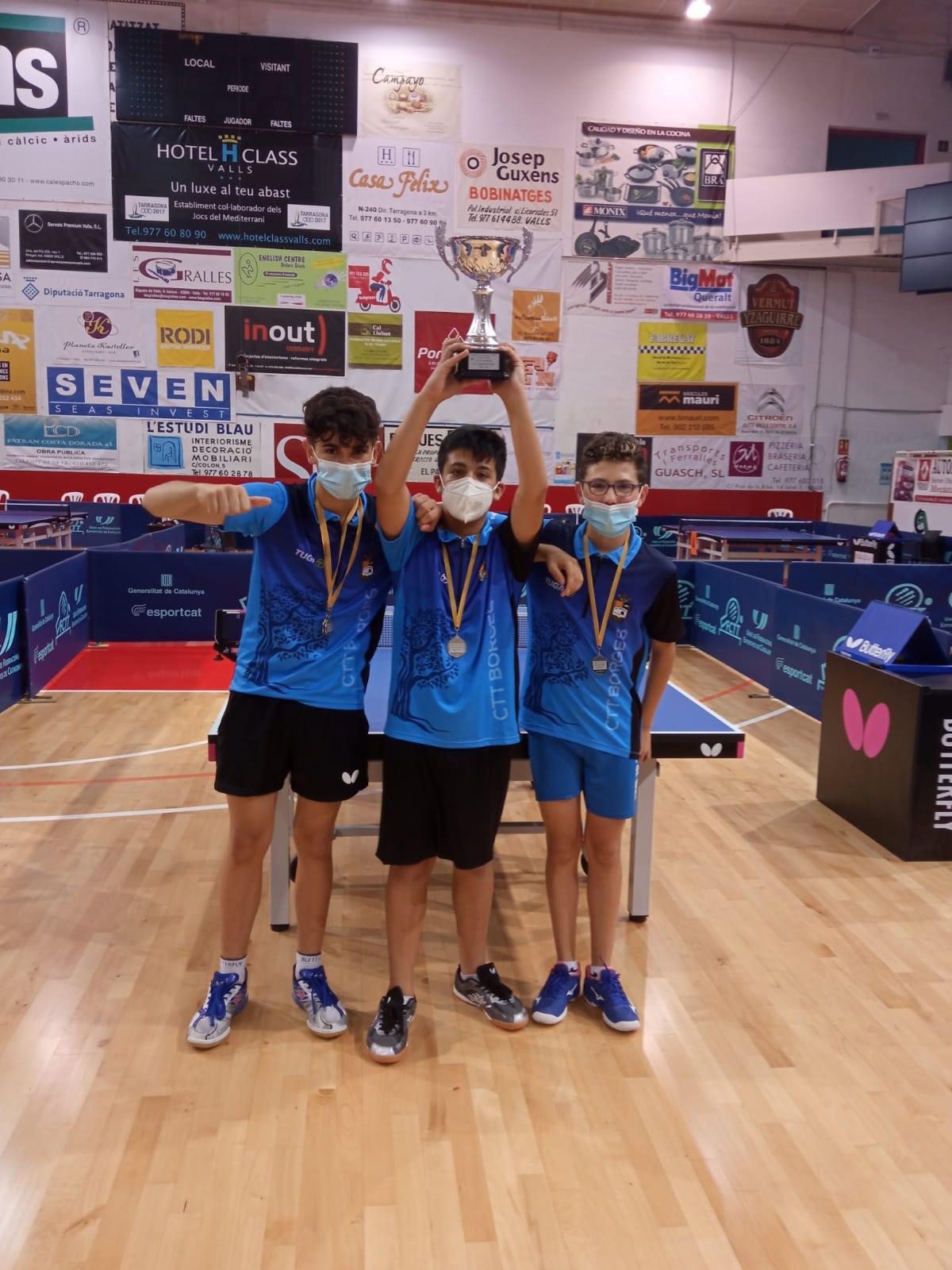 El CTT Borges es proclama campió de Catalunya juvenil i subcampió infantil