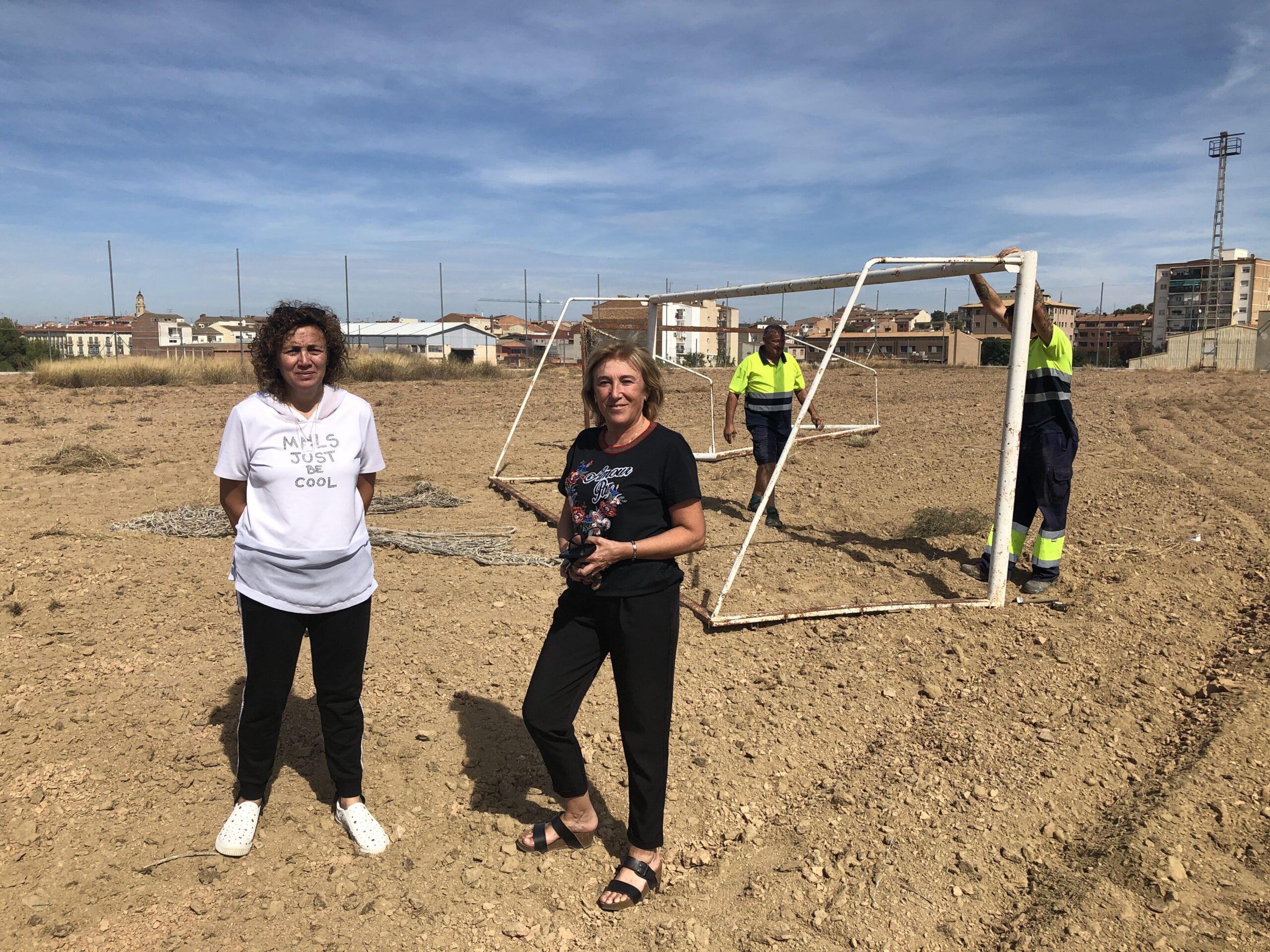 Comencen les obres de construcció del nou camp de futbol 7 de les Borges Blanques