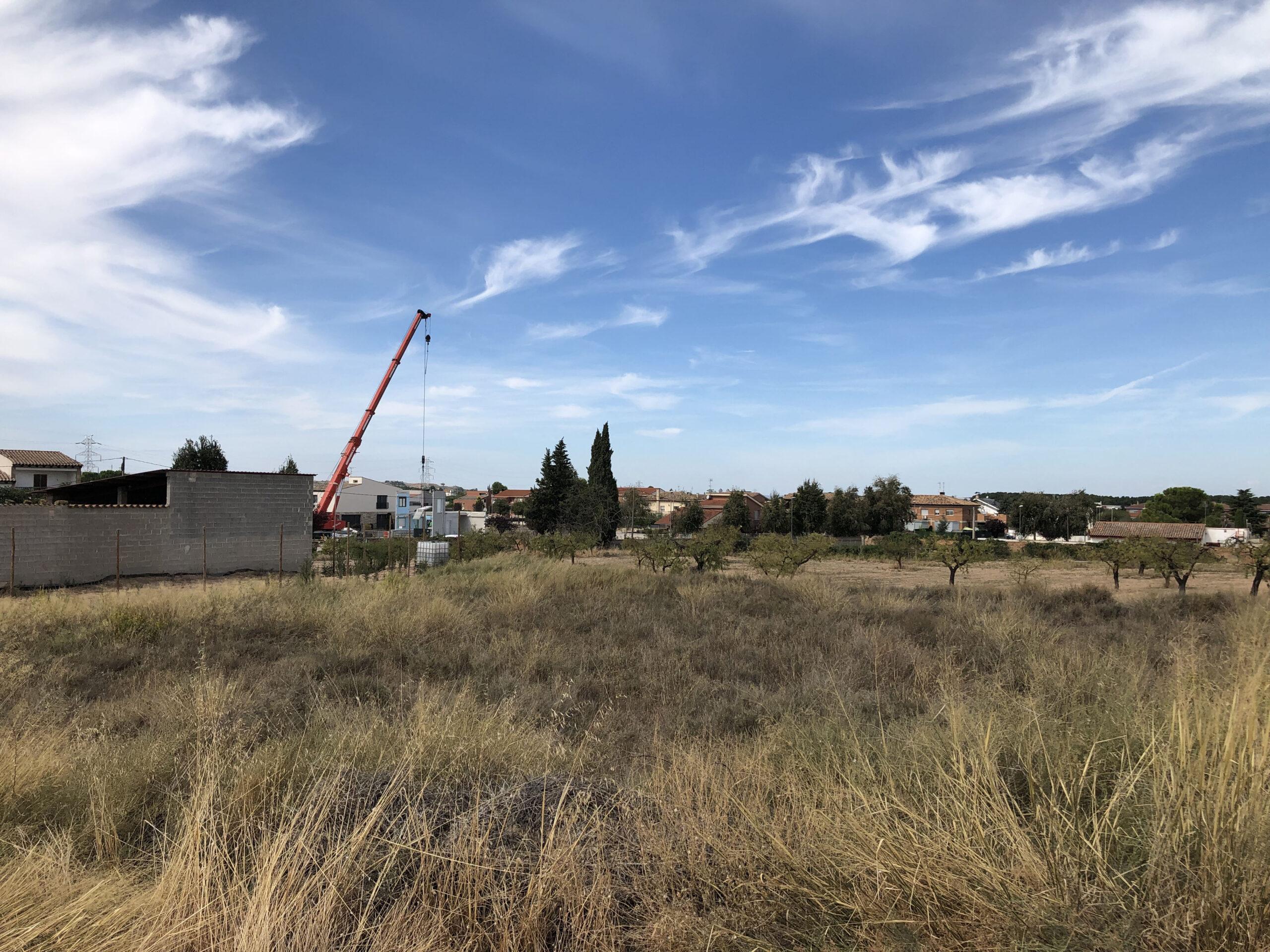 El terreny on es construirà el pump track
