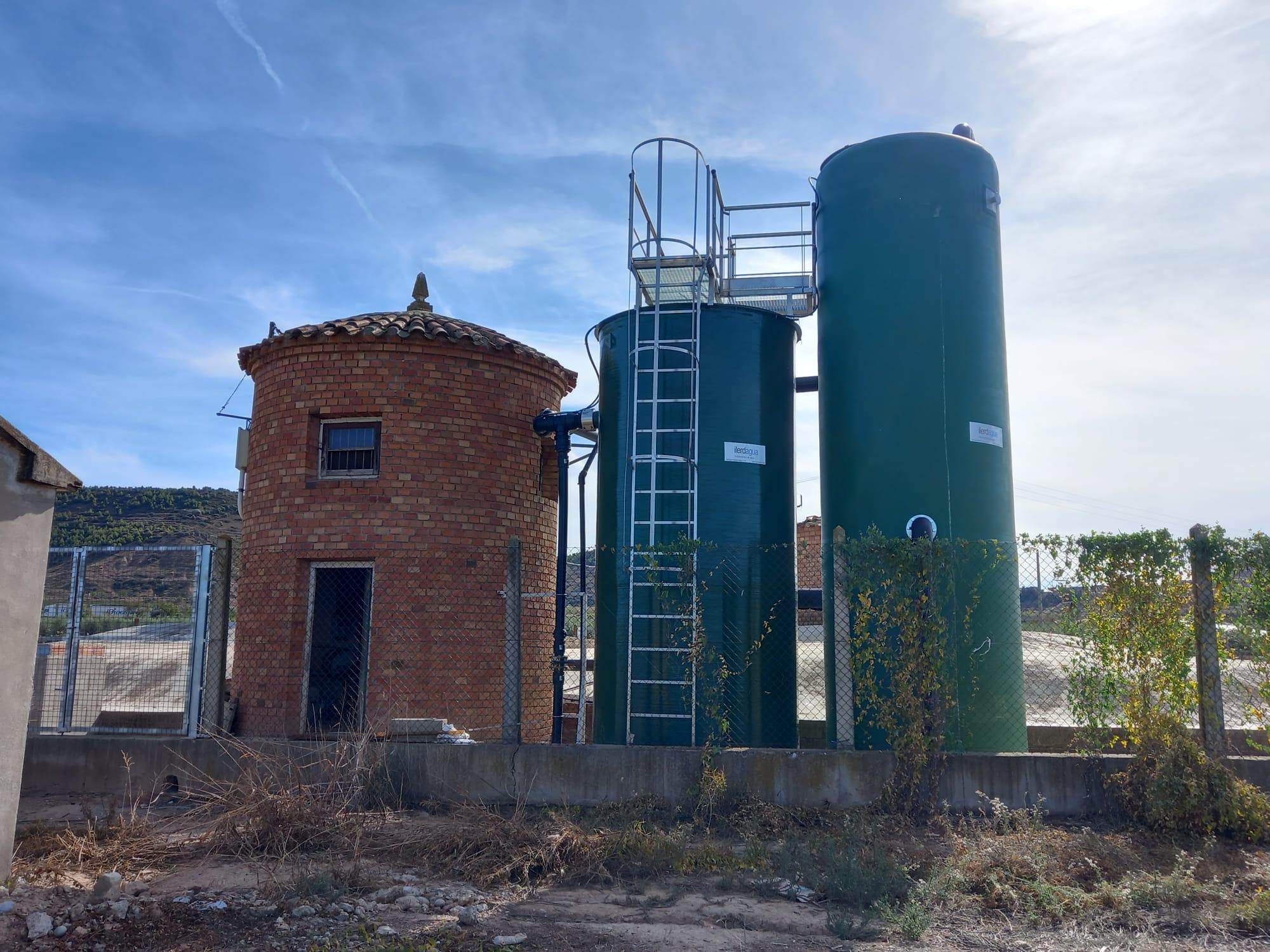 Finalitza la instal·lació de l'estació de tractament d'aigua potable a Castelldans